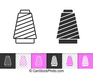 Sewing Thread simple black line vector icon