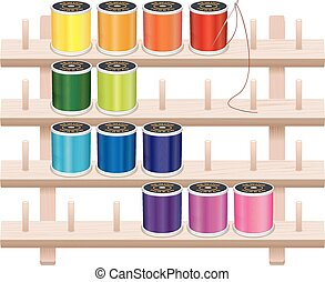 Sewing Thread Storage Wall Rack