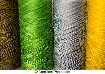 Sewing threads multicolored backgro