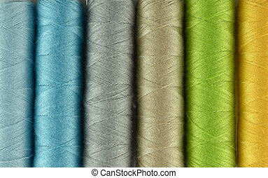 Sewing threads multicolored background
