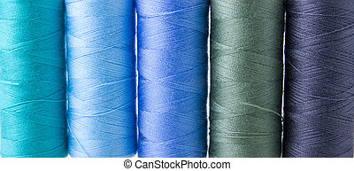 Sewing threads multicolored