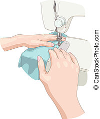 Sewing. Vector illustration.