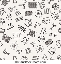 Sewing vector pattern