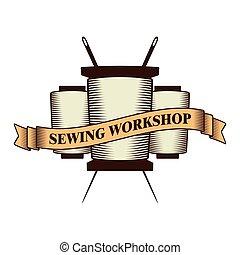 Sewing workshop logo
