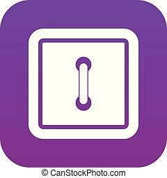Sewn square button icon digital purple