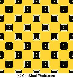 Sewn square button pattern vector