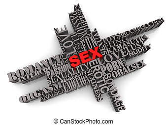 SEX Abstract Design - SEX theme text design on white...