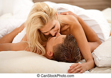 Sex act - Newlywed couple during sex act