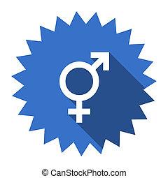 sex blue flat icon