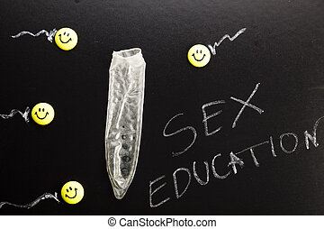 Sex, colorful bright concept of education