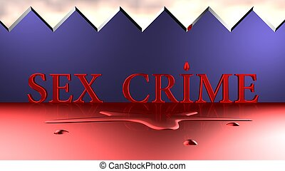 Sex Crime deadfall, puddle of blood, 3d background