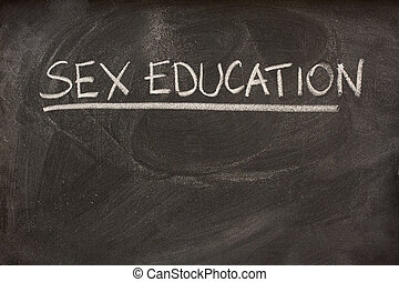 sex education as a class topic on blackboard - sex education...