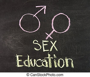 Sex education with gender symbols