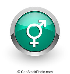 sex green glossy web icon