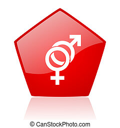 sex red web glossy icon
