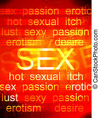 Sex Sells - Collage of mixed words.