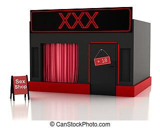 Sex shop. 3d illustration