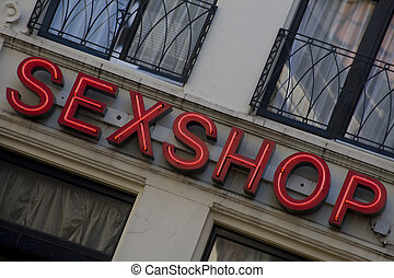 sex shop sign - Sex shop sign