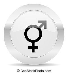 sex silver glossy web icon