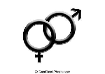 Sex symbols - Man and woman