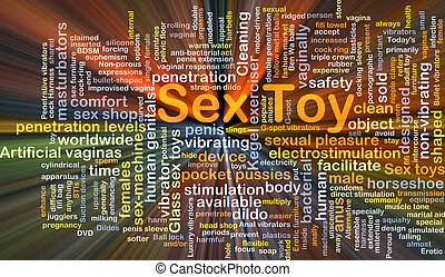 Sex toy background concept glowing - Background concept...