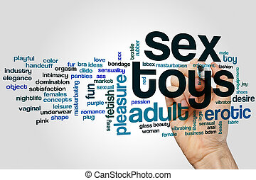Sex toys word cloud
