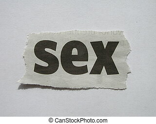 Sex - Word from a newspaper