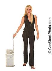 sexet, blonde, businesswoman