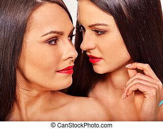 Sexet lesbisk sort