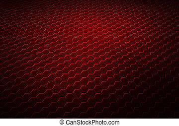 sexhörning, röd fond, texture.