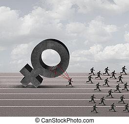 Sexism Discrimination - Sexism descrimination concept as a...