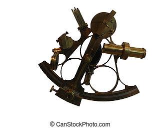 sextant, mässing