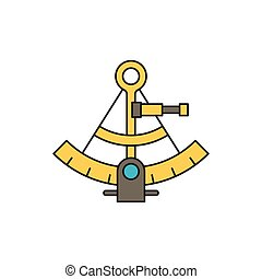 Sextant vector icon symbol isolated on white background