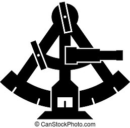 sextant, vector, silhouette