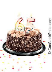 sextio, födelsedag, eller, femte, årsdag