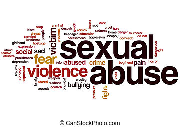 Sexual abuse word cloud concept