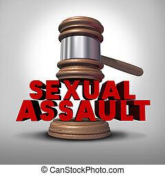 Sexual Assault - Sexual assault concept and rape crime...