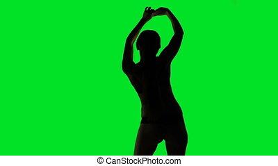 Sexual dancing woman