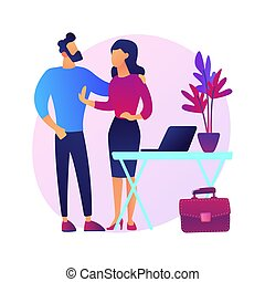 Sexual harassment abstract concept vector illustration. ...