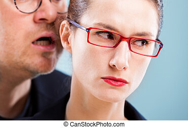 sexual harassment concept man on woman