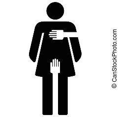 Sexual Harassment - woman sign
