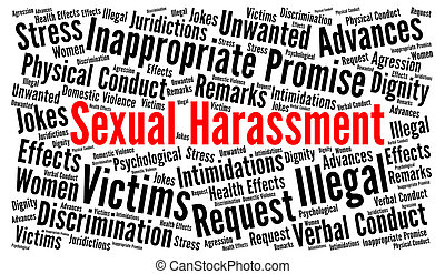 Sexual harassment word cloud concept
