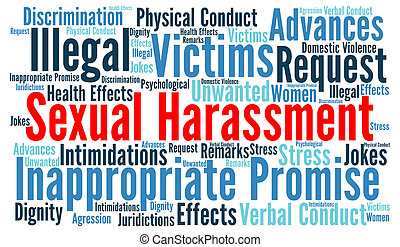 Sexual harassment word cloud