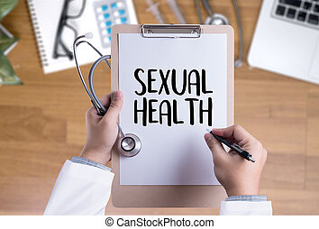 SEXUAL HEALTH , Application Concept health care