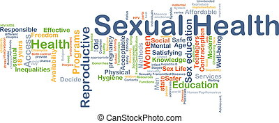 Sexual health background concept