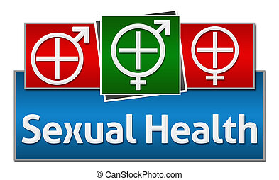 Sexual Health Red Blue Green Square