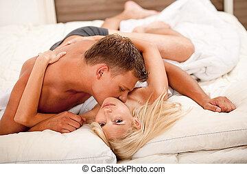 Sexual intercourse - Couple during sexual intercourse