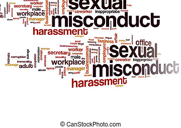 Sexual misconduct word cloud