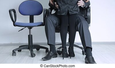 sexual secretary comes to boss, businessman grabs a...