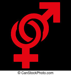 Sexual Symbols Icon - Sexual Symbols raster icon. Style is...